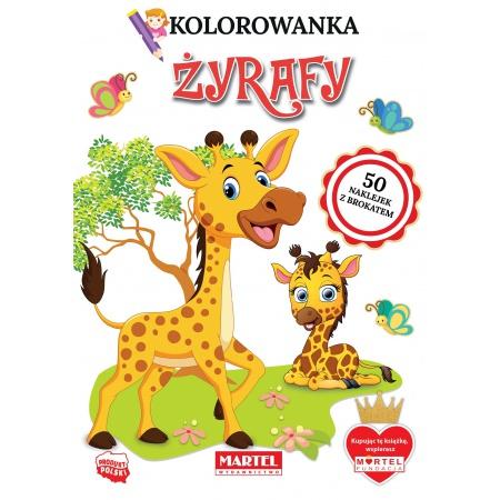 Żyrafy. Kolorowanki z...